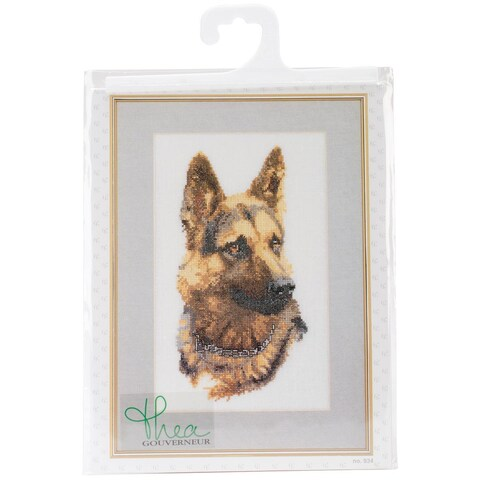 Shepherd's Dog On Linen Counted Cross Stitch Kit - 9-1/2 X13 24 Count
