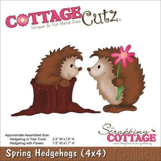 CottageCutz Die 4 X4  - Spring Hedgehogs
