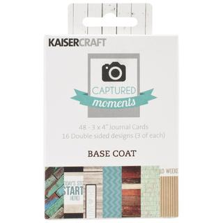 Captured Moments Double-Sided Cards 3 X4 48/Pkg - Basecoat