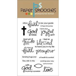 Paper Smooches 4 X6  Clear Stamps - Spiritual Sampler
