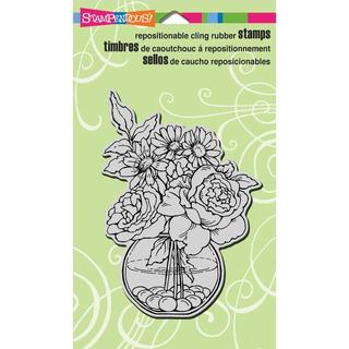 Stampendous Cling Rubber Stamp 4 X6  Sheet - Bowl Bouquet