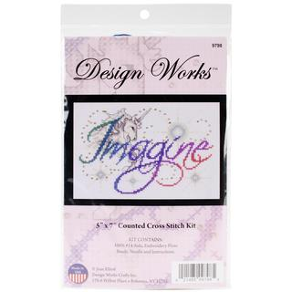 Imagine Counted Cross Stitch Kit - 5 X7 14 Count