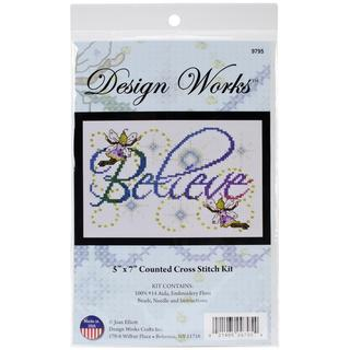 Believe Counted Cross Stitch Kit - 5 X7 14 Count