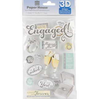 Paper House 3-D Sticker - Engaged