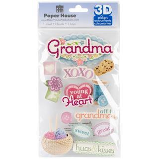 Paper House 3-D Sticker - Grandma