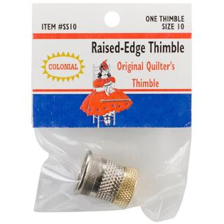 Raised-Edge Thimble - Size 10