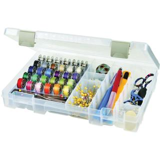 ArtBin Sew-Lutions Bobbin & Supply Box - 10.75 X7.375 X1.75 Translucent