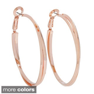 Alexa Starr Two-Row Knife Edge Hoop Earrings