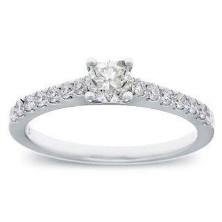 Azaro 14k White Gold 3/5ct TDW Round Diamond Engagement Ring (G-H, SI2-I1)