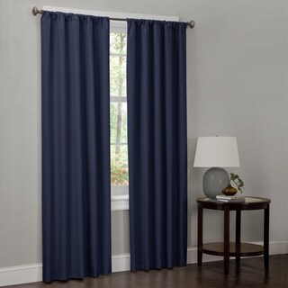 "Thermal Lined Microfiber 84 inch Curtain Panel Pair - 40"" x 84"""