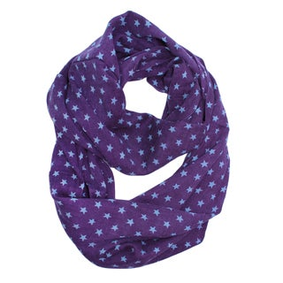Saachi Women's Wool Stars Print Infinity Loop Scarf (India)