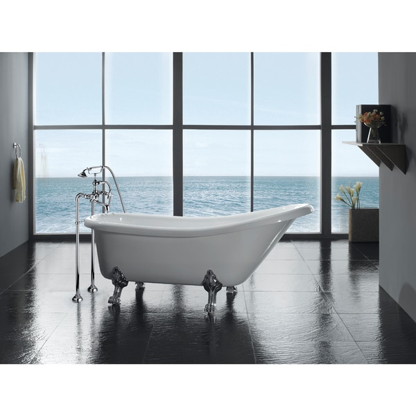 Shop OVE Decors Classic 66-inch Clawfoot Tub with Faucet - Free ...