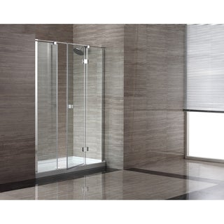 OVE Decors OWS-614 60-inch Glass Shower Enclosure with Acrylic Base