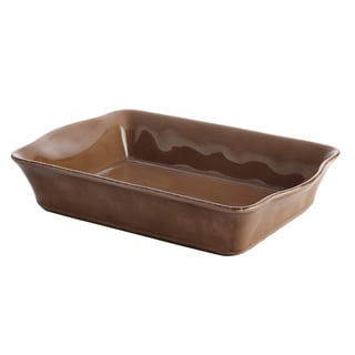 Rachael Ray Cucina Stoneware 9 x 13-inch Mushroom Brown Rectangular Baker