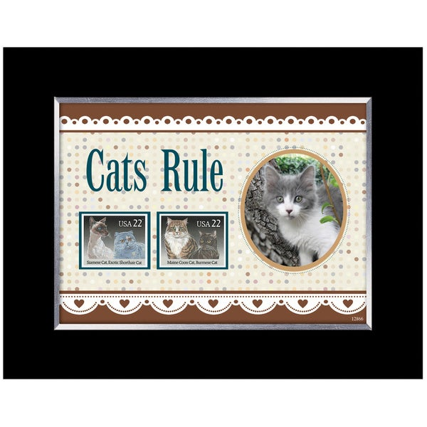 Cats Rule Stamp Photo Frame