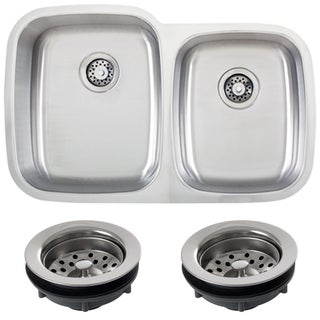 Phoenix L3BG-REG 32-inch 18-gauge Undermount Double Bowl Kitchen Sink