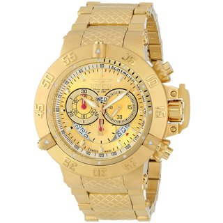Invicta Men's 5403 'Subaqua' Goldplated Stainless Steel Chronograph Watch