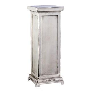 Medium Silver Aluminum Pillar Pedestal