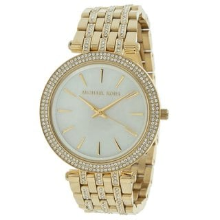 Michael Kors Women's MK3219 'Midsize Darci Glitz' Goldtone Watch