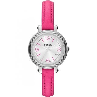 Fossil Women's ES3302 'Heather' Hot Pink Watch