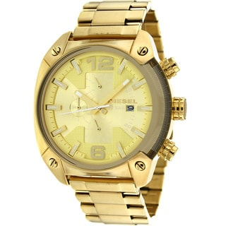 Diesel Men's DZ4299 Overflow Goldtone Chronograph Watch