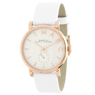 Marc Jacobs Women's MBM1283 Baker White/ Rose goldtone Watch