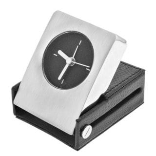 Alarm Clock and Leather Holder