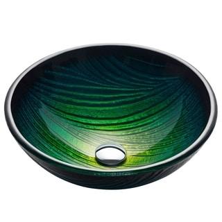 KRAUS Nei Glass Vessel Sink in Green