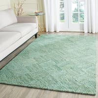 Safavieh Handmade Nantucket Abstract Green/ Multi Cotton Rug - 4' x 6'