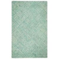 Safavieh Handmade Nantucket Abstract Green/ Multi Cotton Rug - 3' x 5'