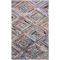 Safavieh Handmade Nantucket Modern Abstract Multicolored Cotton Rug - 3' x 5'