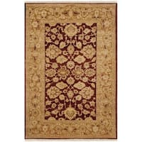 Safavieh Hand-knotted Peshawar Vegetable Dye Rust/ Lemon Wool Rug - 4' x 6'