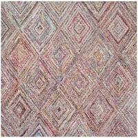 Safavieh Handmade Nantucket Modern Abstract Multicolored Cotton Rug - 8' Square