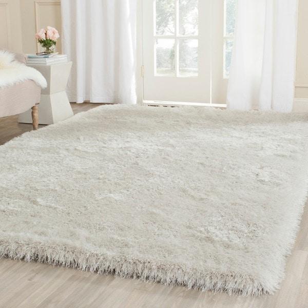 Safavieh Handmade Thom Filicia Shag Pearl Polyester Rug (6' Square)