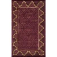 Safavieh Hand-knotted Nepalese Rust Wool/ Silk Rug - 4' x 6'