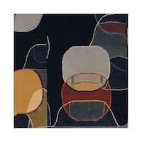Safavieh Hand-knotted Nepalese Modern Multicolored Wool/ Silk Rug - 4' x 6'