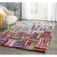 Safavieh Handmade Nantucket Modern Abstract Multicolored Cotton Rug - 6' X 6' Square