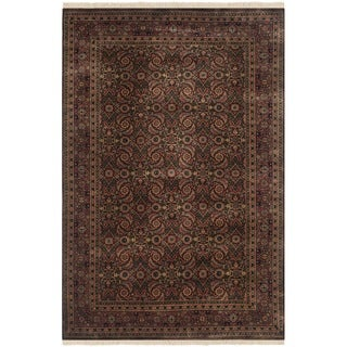 Safavieh Hand-knotted Herati Brown/ Rust Wool Rug (4' x 6')