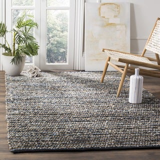 Safavieh Cape Cod Handmade Blue Jute Natural Fiber Rug (6' Square)