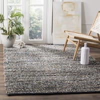 Safavieh Cape Cod Handmade Blue Jute Natural Fiber Rug - 6' Square