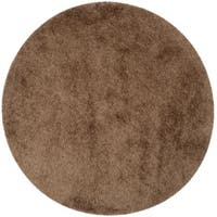 Safavieh Handmade Thom Filicia Shag Taupe Polyester Rug - 6' Round