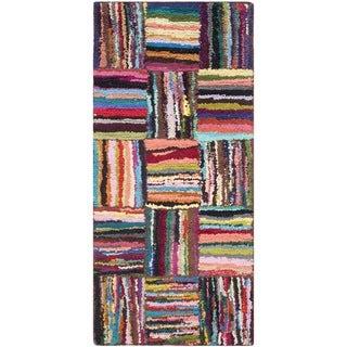 Safavieh Handmade Nantucket Modern Abstract Multicolored Cotton Runner Rug (2' 3 x 5')