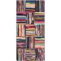Safavieh Handmade Nantucket Modern Abstract Multicolored Cotton Runner Rug - 2'3 x 5'
