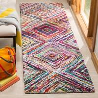"Safavieh Handmade Nantucket Modern Abstract Multicolored Cotton Runner Rug - Multi - 2'3"" x 9'"