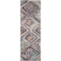 Safavieh Handmade Nantucket Modern Abstract Multicolored Cotton Runner Rug - multi - 2' 3 x 9'
