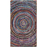 Safavieh Handmade Nantucket Modern Abstract Multicolored Cotton Rug - Multi - 2'3 x 4'
