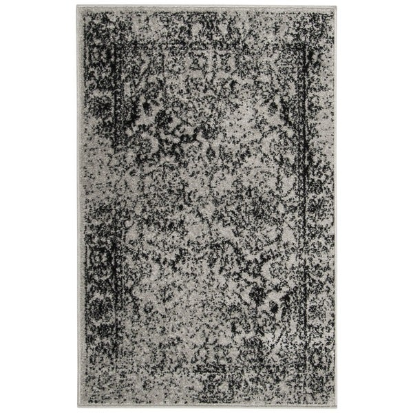 Safavieh Adirondack Vintage Distressed Grey / Black Rug - 2'6 x 4'