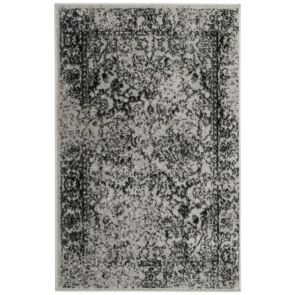 Safavieh Adirondack Vintage Distressed Grey / Black Rug (2'6 x 4')