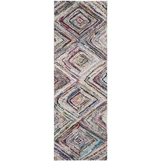Safavieh Handmade Nantucket Modern Abstract Multicolored Cotton Runner Rug (2' 3 x 7')