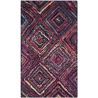 Safavieh Handmade Nantucket Modern Abstract Multicolored Cotton Rug - 2' x 3'